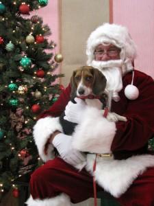 Sadie Milady with Santa